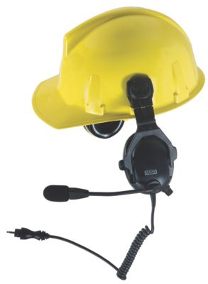 Connect-by-Cable Cap Mounted Headsets