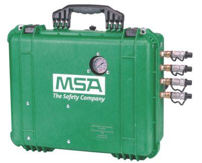 Caja de filtración del sistema de distribución de aire respirable