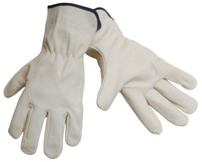Cow Grain Extended Cuff Gloves