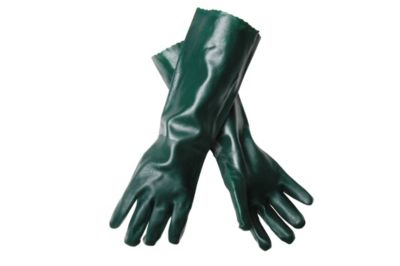 Green Double Dipped PVC Gloves