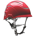 MSA Nexus HeightMaster Climbing Helmet in red