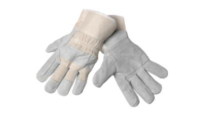 Split Leather and Cotton Polisher Gloves