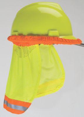 MSA 10098031 HiViz Orange Cooling Fabric Hard Hat Sunshade W Reflective Striping for sale online