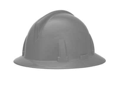 MSA Topgard hard hat with full brim in grey