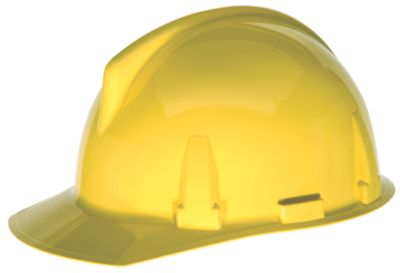 MSA Topgard hard hat in yellow