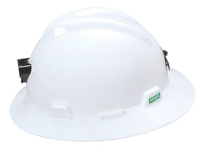 V-Gard® Full Brim Hard Hats With Lamp Holder And Cable Holder