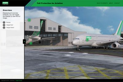 Screenshot from the MSA Aviation interactive model