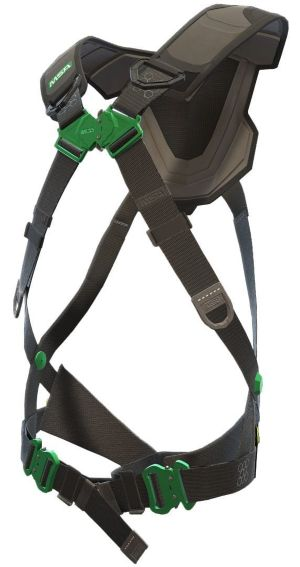 An angled view of the MSA V-FLEX fall protection harness
