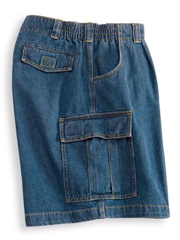 John Blair Side-Elastic Cargo Shorts - Image 1 of 2