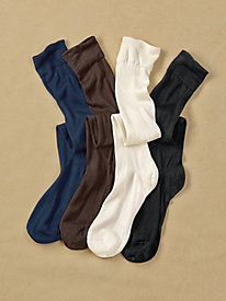 Unisex Knee-High Sock Liners in Washable Silk