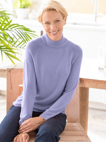 Soft Spun® Acrylic Mock Neck Long Sleeve Sweater - Image 1 of 19