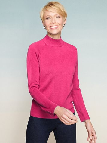 Soft Spun® Acrylic Mock Neck Long Sleeve Sweater - Image 1 of 20