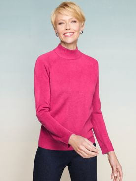 Soft Spun® Acrylic Mock Neck Long Sleeve Sweater