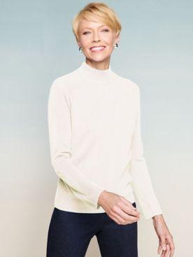 Soft Spun® Acrylic Mock Neck Long Sleeve Sweater