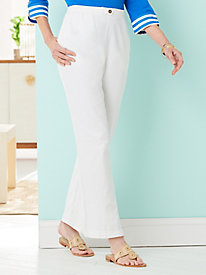 Denim Tab Front Pants
