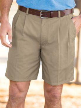 John Blair® Back Elastic Twill Shorts