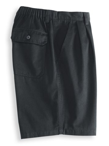 John Blair® Back Elastic Twill Shorts - Image 3 of 3