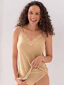 Washable Filament Silk Strappy Lace Camisole