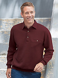 Men's Textured Banded-Bottom Polo