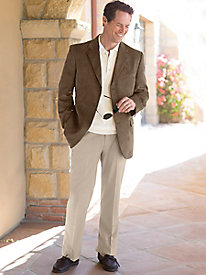 Men's Washable Traveler's Suede Jacket Outift