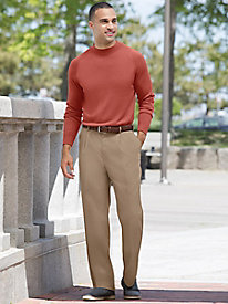 Men's Microfiber Auto-Sizer Plain Pants