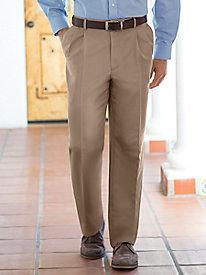 Men's Microfiber Auto-Sizer Pleated Pants
