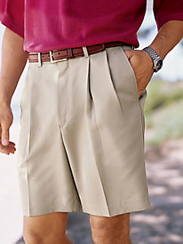 Men's Microfiber Auto-Sizer Pleated Front Shorts