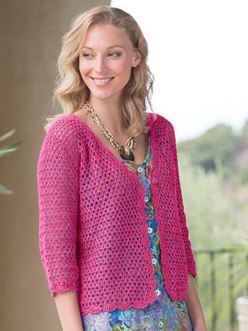 Women's Linen/Cotton Crochet Cardigan - Image 1 of 1