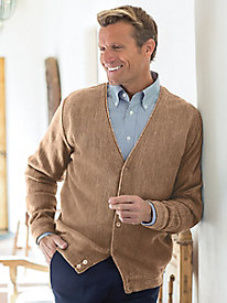 Men's Links Stitch Cardigan