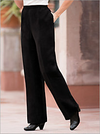 Microsuede Pull-on Pants