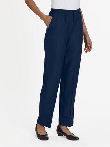 Silhouette Slimmers® Gabardine Pants - Image 1 of 11