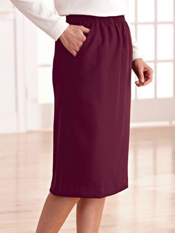 Silhouette Slimmers® Elastic-Waist Skirt - Image 1 of 7