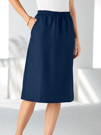 Silhouette Slimmers® Elastic-Waist Skirt - Image 1 of 6
