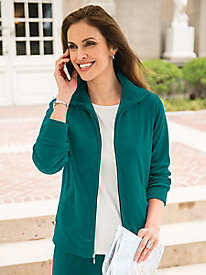 Women's Velour Warm-Up Jacket