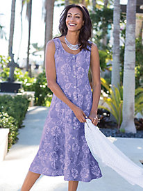 Women's Hibiscus Batik Dress