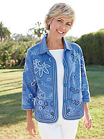 Women's Embroidered Cotton Jacket