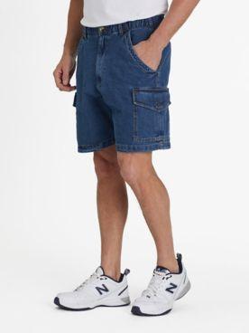 John Blair Relaxed-Fit Full-Elastic Cargo Shorts