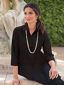 Women's Wrinkle-Free Foxcroft 3/4-Sleeved Shirt