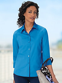Women's Wrinkle-Free Foxcroft 3/4-Sleeved Shirt by Appleseed's