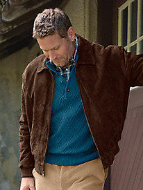 Men's Weather Ready Suede Jacket by Norm Thompson