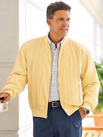 Scandia Woods® Washable Silk Zip-Front Jacket - Image 1 of 7