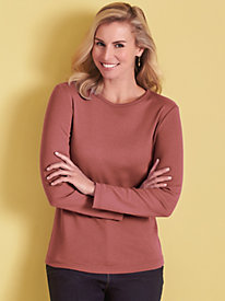 Better Than Basic Long-Sleeve Knit Tee by Blair