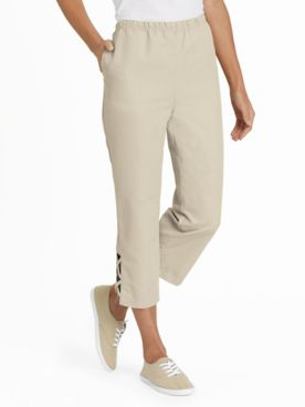 Criss-Cross Pull-On Capris