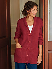 Shaker Cardigan Sweater
