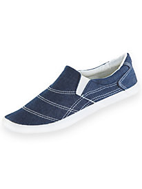 ComfortEase® Canvas Slip-On Sneakers