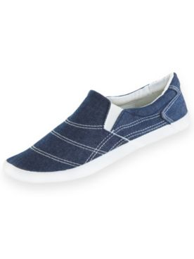 Twin Gore Canvas Slip-Ons by ComfortEase®