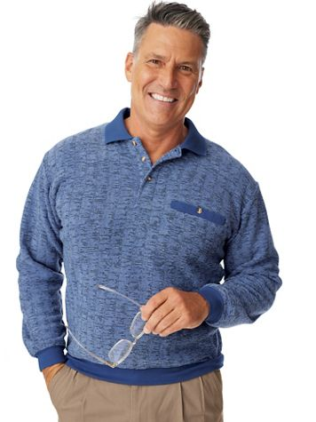 John Blair® Bouclé Fleece Banded-Bottom Shirt - Image 1 of 10