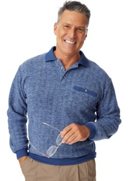 John Blair® Bouclé Fleece Banded-Bottom Shirt