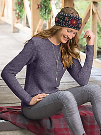 Cotton Blend Pullover Sweater