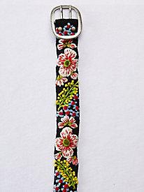Embroidered Wildflower Belt